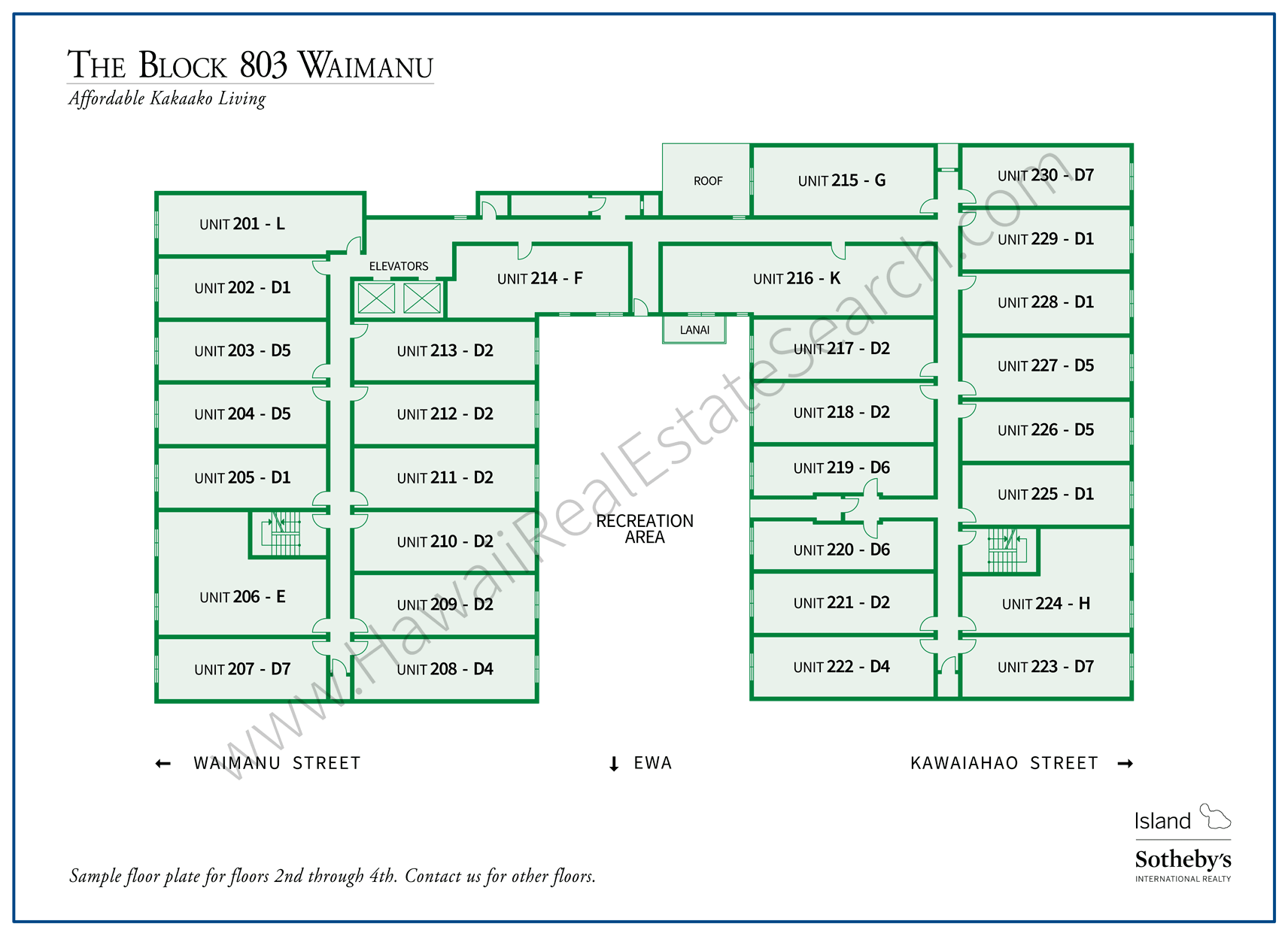 The Block 803 Waimanu Property Map